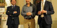 Da destra: l'Assessore al Turismo della Provincia di Salerno Costabile D'Agosto, il geologo e divulgatore TV Mario Tozzi, l'ideatore e direttore della BMTA Ugo Picarelli