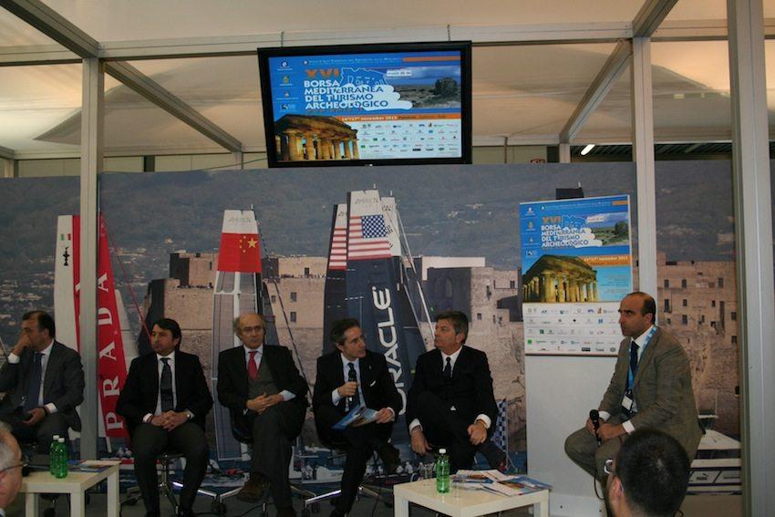 Presentazione ufficiale della XVI edizione della Borsa Mediterranea del Turismo Archeologico - 15 febbraio, stand Campania BIT 2013.