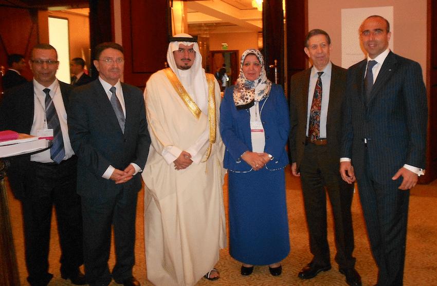 LA BMTA è stata protagonista del 37° incontro dell'Organizzazione Mondiale del Turismo dedicato al Medio Oriente, svoltosi in Bahrain nell'ambito delle celebrazioni di Manama Capitale Araba del Turismo 2013. Nella foto: il direttore della BMTA Ugo Picarelli (primo da destra) con il Segretario Generale dell'OMT (secondo da sinistra), il Vice Ministro del Bahrain (terzo da sinistra), il Ministro del Turismo della Libia (quarta da sinistra), il Consigliere Speciale del Direttore Generale UNESCO (secondo da destra).