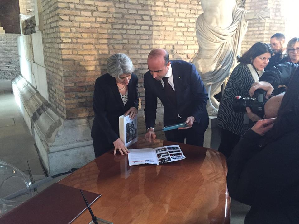 Irina Bokova e Ugo Picarelli