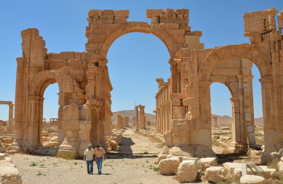 Palmyra's Arc of Triumph destroyed by Islamic extremists