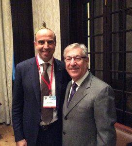 Il Direttore Picarelli con il Commissario Europeo Ambiente, affari marittimi e pesca Karmenu Vella