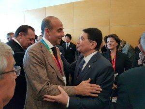 Il Direttore Ugo Picarelli con il Segretario Generale Unwto Taleb Rifai