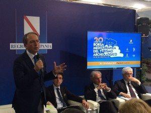 Alfonso Andria interviene alla presentazione della BMTA in BIT