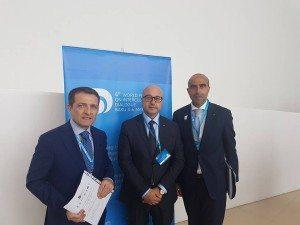 Il Direttore Picarelli con l'Ambasciatore d'Italia in Azerbaigian Giampaolo Cutillo e il Sottosegretario MiBACT Antimo Cesaro
