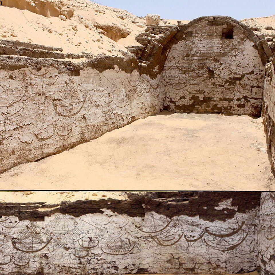 L'edificio della barca di Sesostri III e i Graffiti di 120 navi ad Abido in Egitto