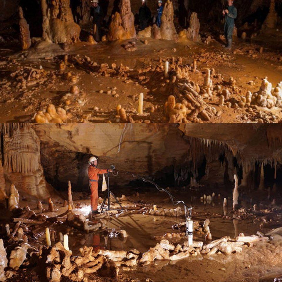 La prima opera architettonica dei Neanderthal in una caverna di Bruniquel nel Sud della Francia