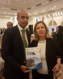 Il Direttore Picarelli con la Ministra del Turismo e Artigianato della Tunisia Selma Elloumi Rekik