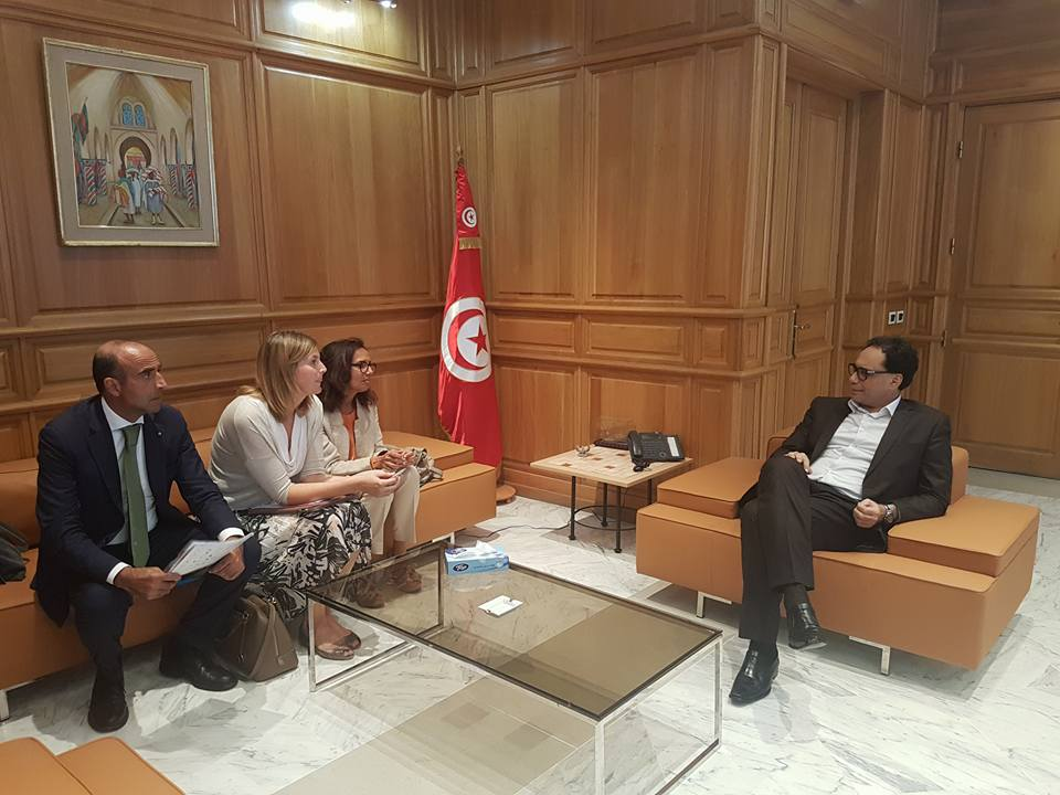 Il Direttore della BMTA Ugo Picarelli con il Ministro della Cultura della Tunisia Mohamed Zine El Abidine