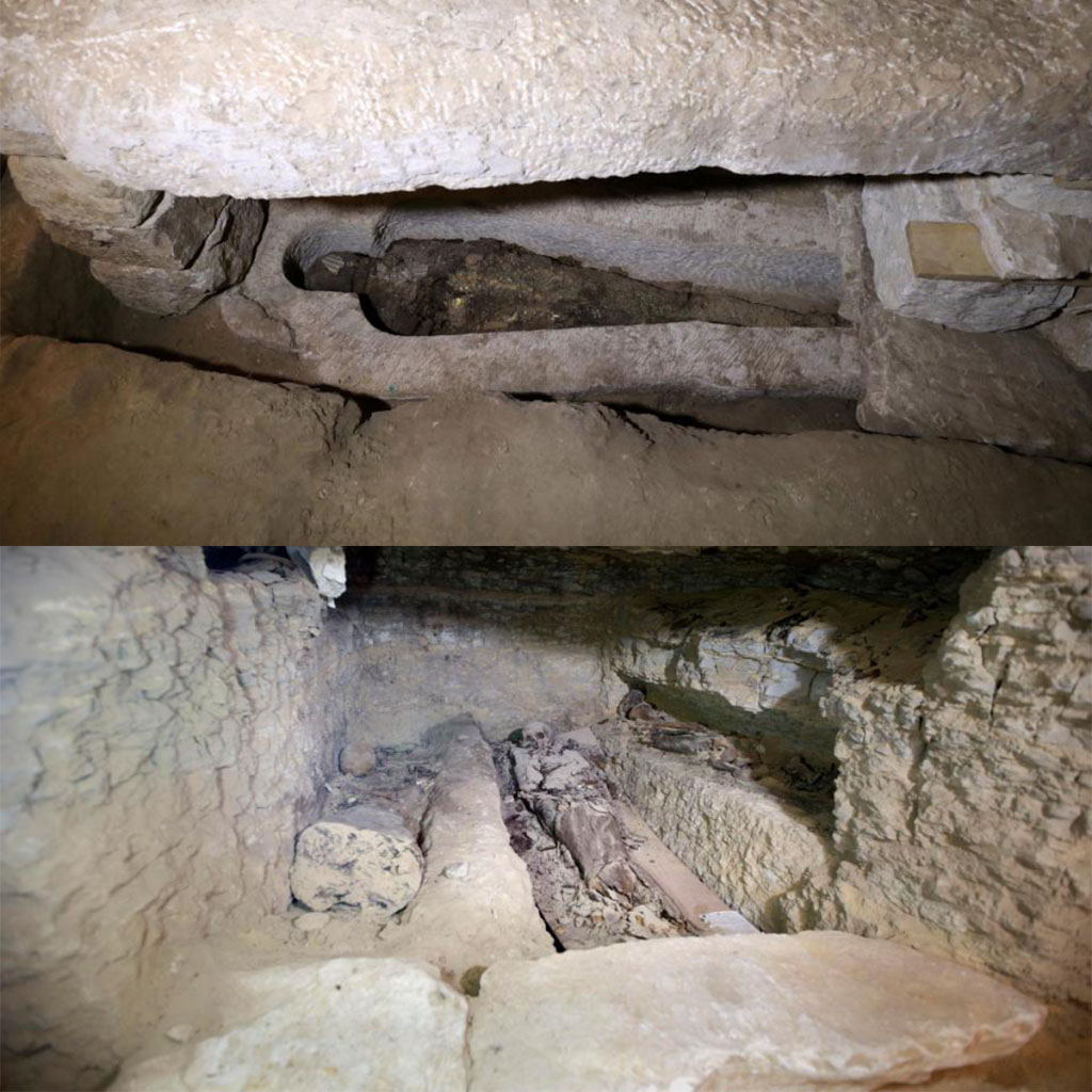 Egypt: at saqqara, south of Cairo, an ancient mummification workshop
